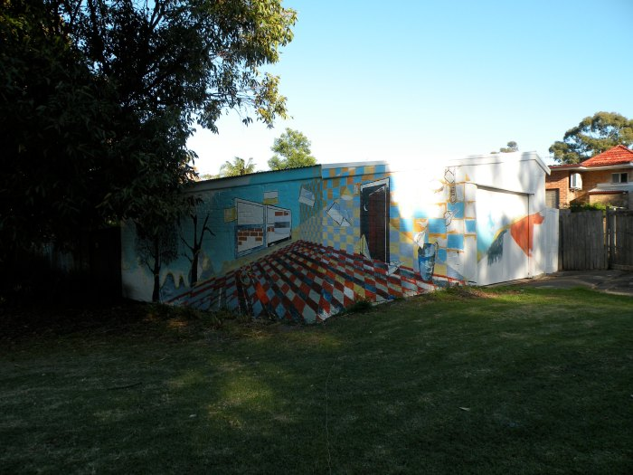 5. Ida Lawrence & Caitlin Hespe. Mural, in process. House paint on wall. 2010