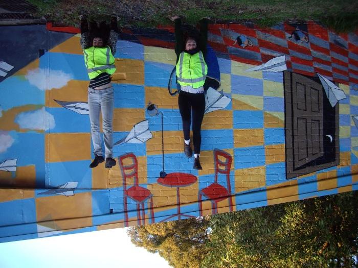 Ida Lawrence & Caitlin Hespe. Mural detail 4