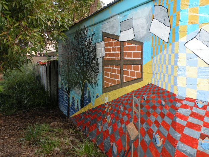 Ida Lawrence & Caitlin Hespe. Mural detail3