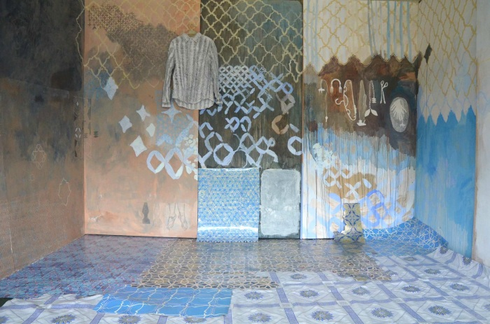 Ida Lawrence, Overgrown 2013, installation view, mixed media