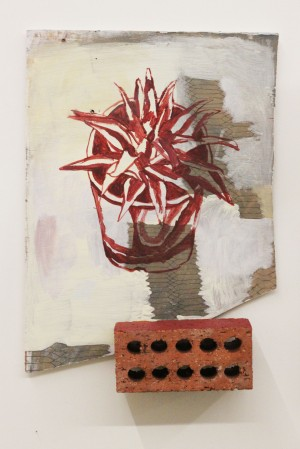 Arthur Parker, Untitled (Air vent with succulent and brick) 2013