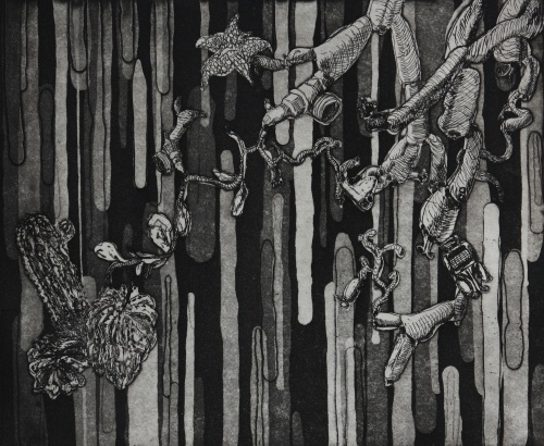 Ida Lawrence, Untitled 2007, etching and aquatint, edition of 3