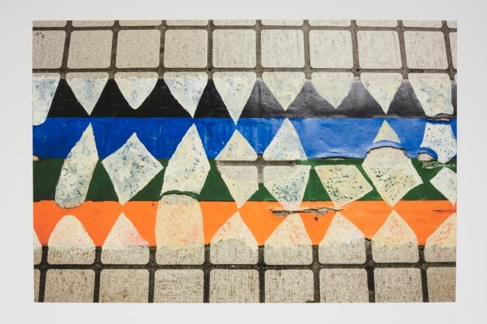 Failed Restoration (Odori Station, Sapporo) / 失敗した修復(大通駅,札幌) 2015 gouache, acrylic and watercolour on pigment print, 33 x 48 cm