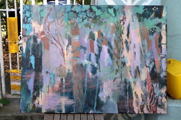 Ida Lawrence Interior 2018 acrylic on canvas 84x112cm.