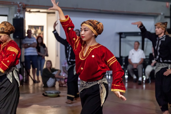 Suara Indonesia Dance, looking here looking north launch 2019. Image care of Casula Powerhouse Arts Centre. Photography by Chantel Bann2