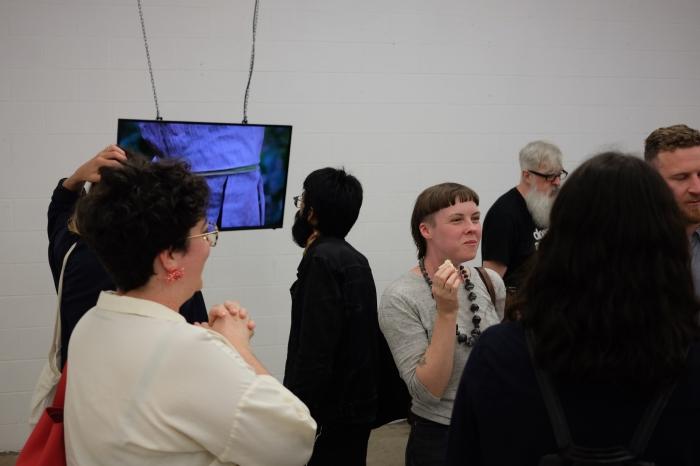 Leyla Stevens, video, BEAUT opening.JPG