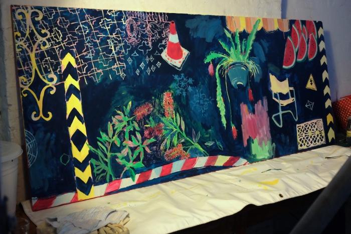 Ida Lawrence, Mural 2016 studio.JPG